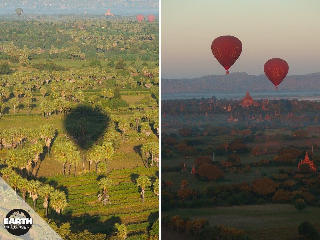 Farsi trasportare dal vento nel cielo di Bagan