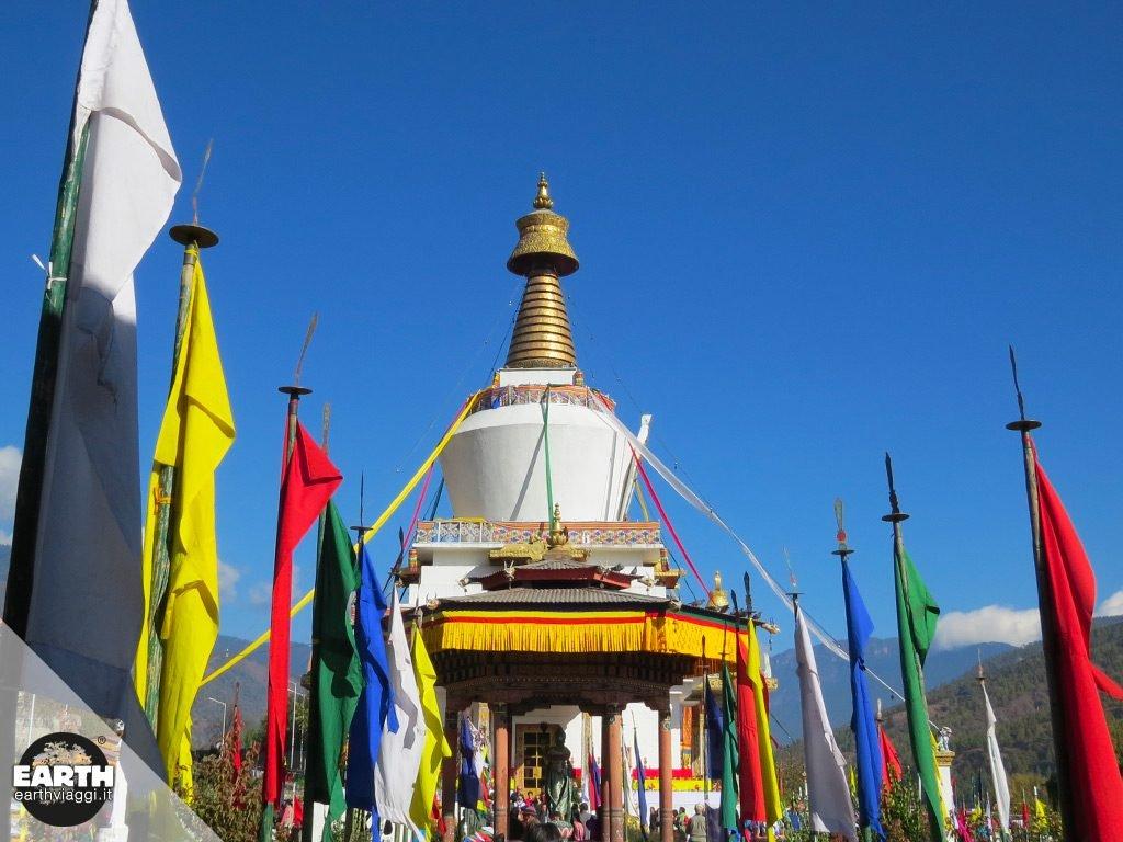 Visita guidata al chörten di Thimphu